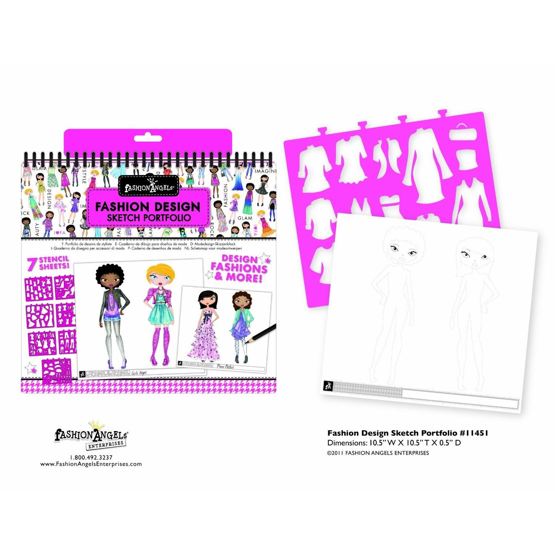 Fashion Angels Fashion Design Sketch Portfolio By Fashion Angels Shop Online For Toys In New Zealand