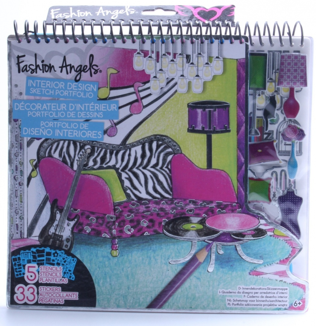 Fashion Angels Interior Design Sketch Portfolio By Fashion Angels By Fashion Angels Shop Online For Toys In New Zealand