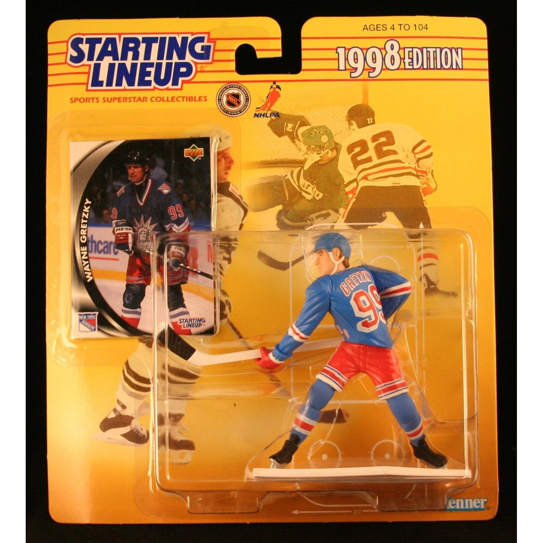 Wayne Gretzky 1998 Starting Lineup New York Rangers Upper Deck Card