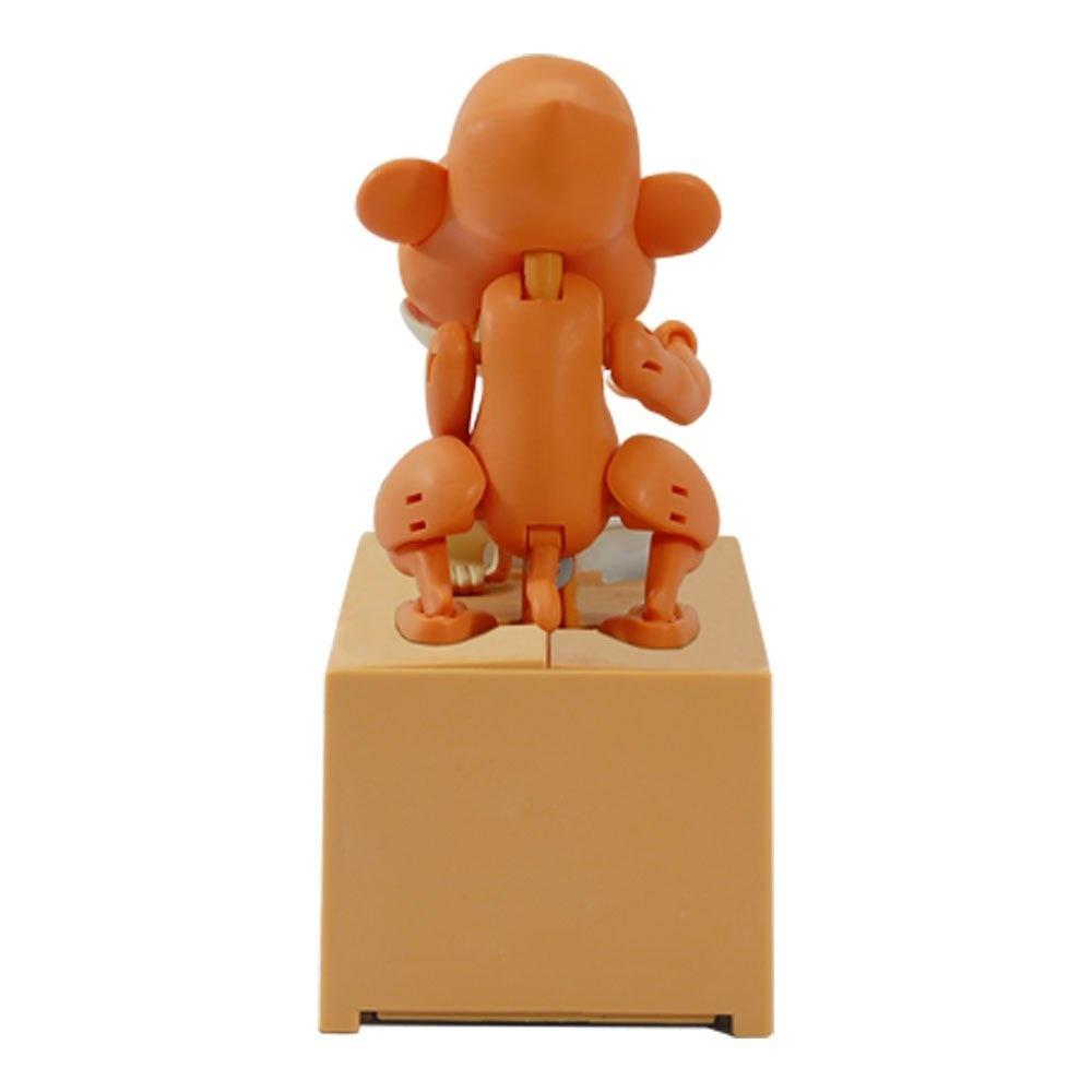 Choken Bako Peeing Dog Wind Up Toy Tea Color