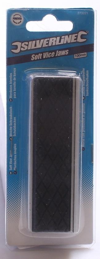 Silverline 273221 100 mm Mordazas blandas para tornillo de banco