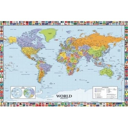 HUGE LAMINATED ENCAPSULATED MAP OF THE UK 2009 GB Great Britain POSTER Measures 36 x 24 inches 90 x 61 cm