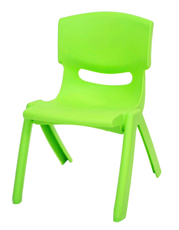 East2eden Lime Green Stackable Kids Children Plastic Chair