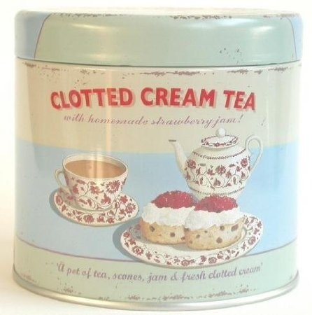 Storage Tin Small Clotted Cream Kitchen Tin By Unbranded Shop Online For Homeware In New Zealand