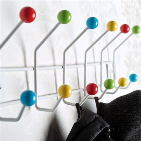 12 Hook Colourful Wall Coat Hooks Rack Colour Bud Mounted Hanger Pegs From Xtradefactory By Xtradefactory Gmbh Shop Online For Homeware In New Zealand