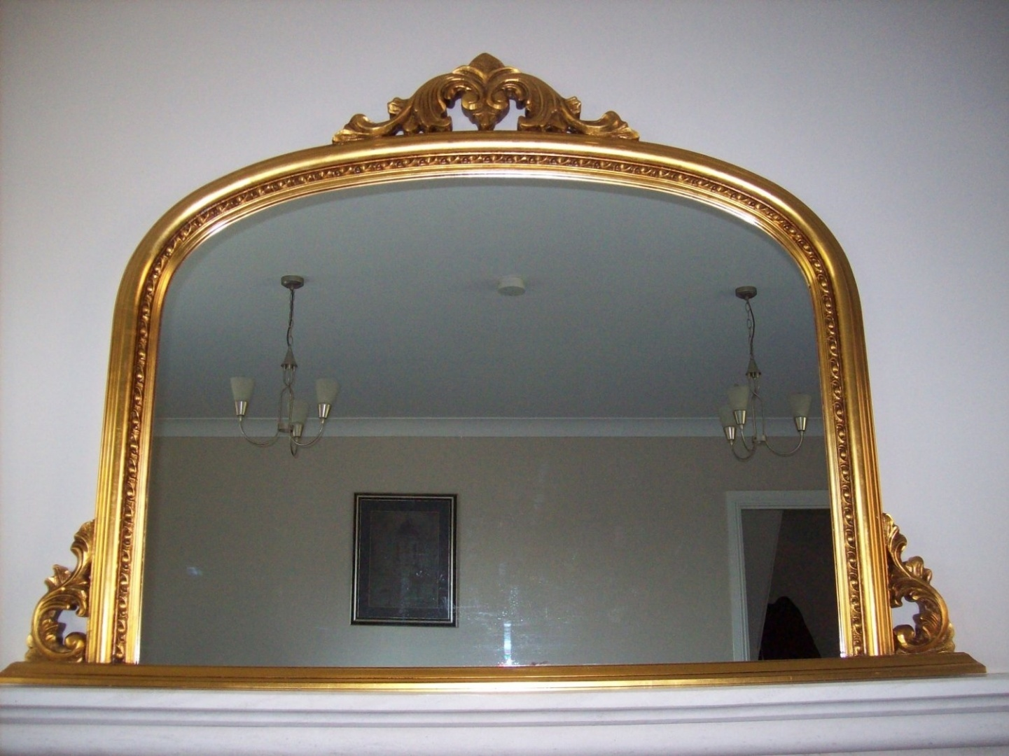 Classic French Inspired Antique Gold Overmantle Mirror With Elegant Ornate Frame Complete With Premium Quality Pilkington S Glass Standard Size By Shabby Chic Mirrors Shop Online For Homeware In New Zealand