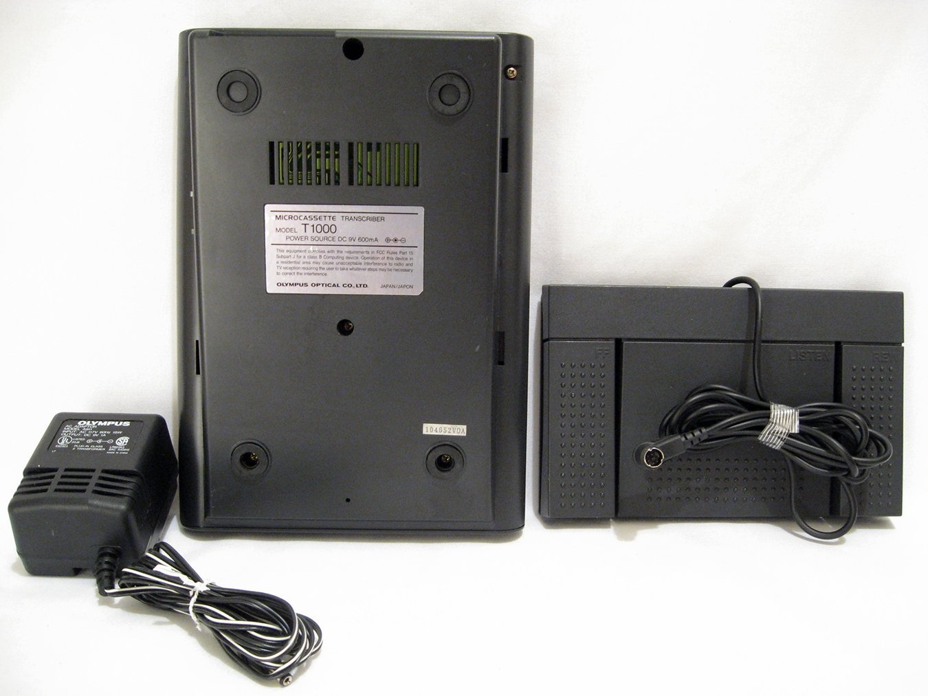 AC//DC Power Supply Adapter For Olympus Pearlcorder T-1000 Transcriber Recorder