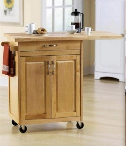 Mainstays Natural Wood Kitchen Island Cart With Butcher Block Counter Top And Kitchen Pantry Cabinet Is A Must Have Kitchen Accessory Have More Counter Space With This Rolling Kitchen Utility Cart Kitchen