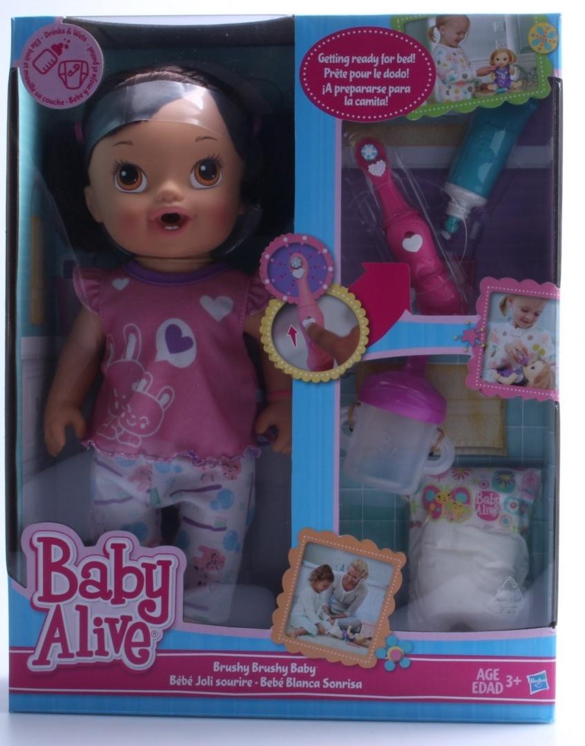 Blonde Interactive Brush Teeth Bedtime New Baby Alive Brushy Brushy Baby Doll