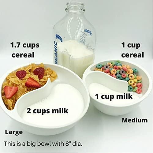Obol Lg Red The Original Never Soggy Cereal Bowl With The Spiral Slide Design n Grip