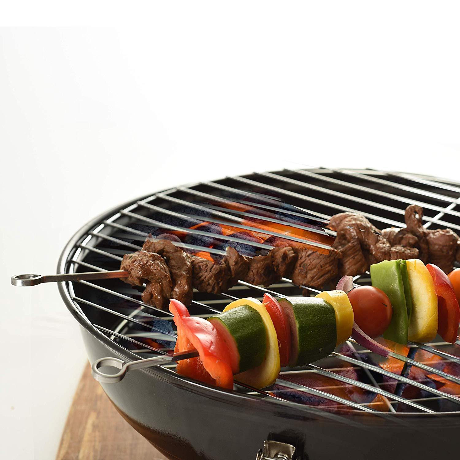 4 x Tala Metal BBQ Barbecue Meat Cooking Skewers 30cm