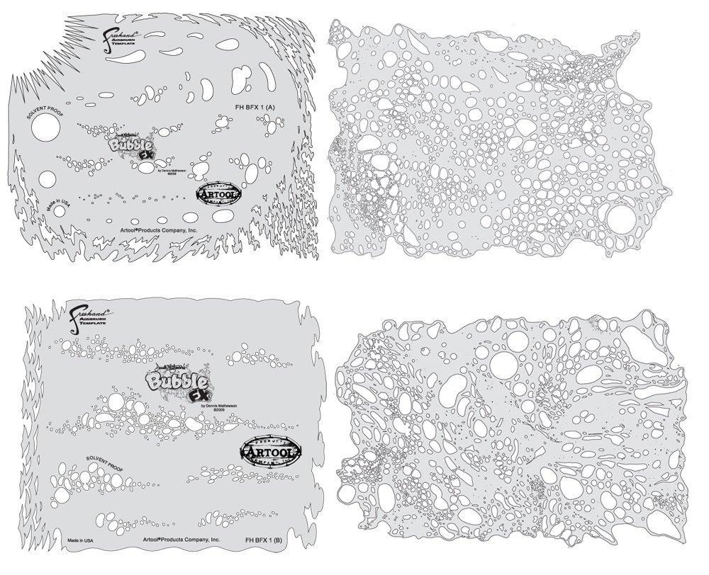 Artool Freehand Airbrush Templates Texture Fx Template Set