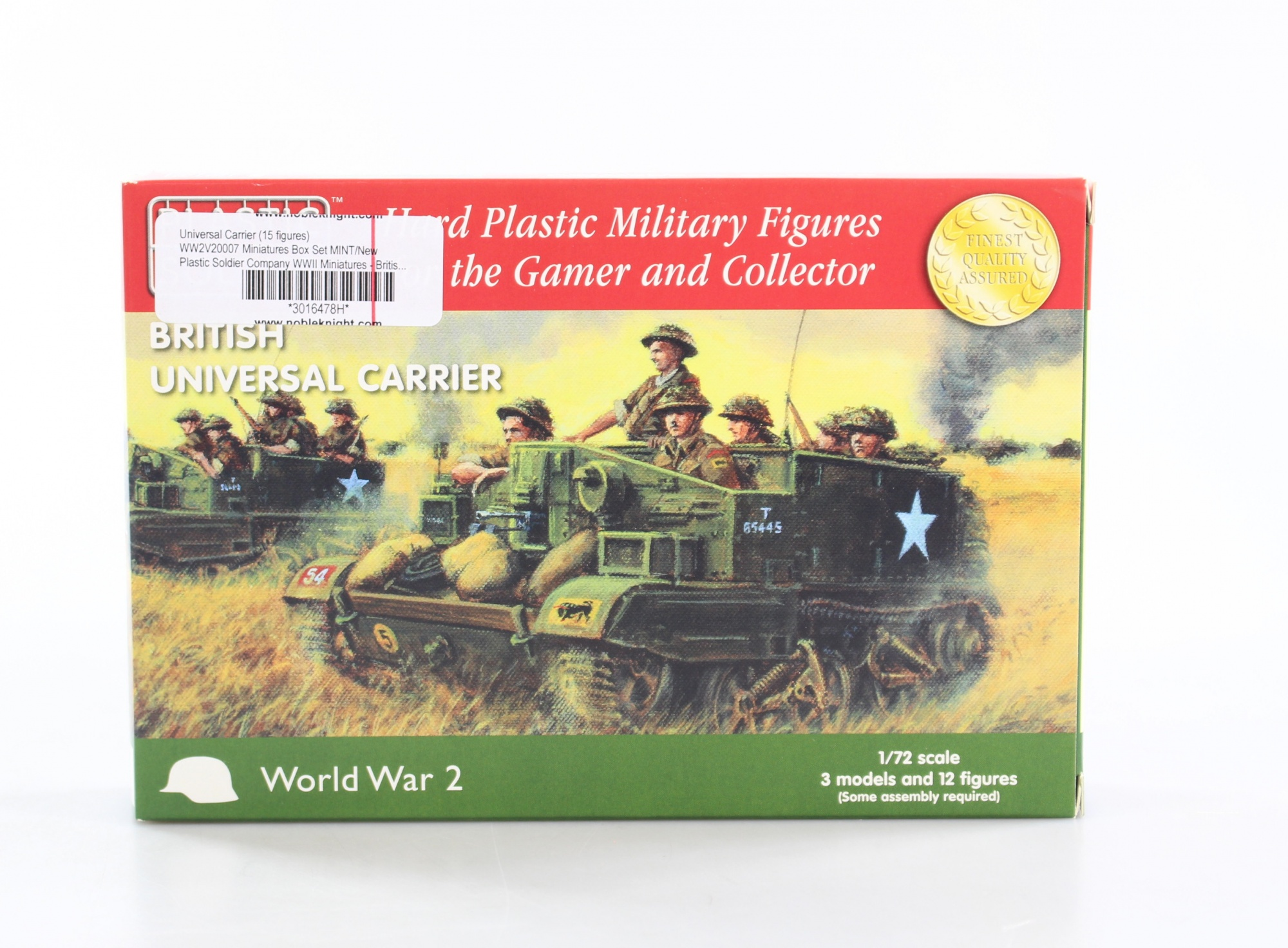 Allied M3 Halftrack MINT//New Plastic Soldier Company WW2V15016