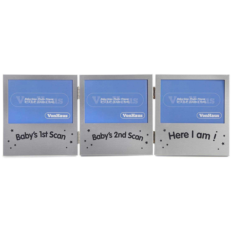 Triple Sonogram Frame Keepsake Ultrasound Picture Pregnancy Scan Images /& Photos