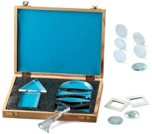 Set of 6 United Scientific Acrylic Prisms and Lenses
