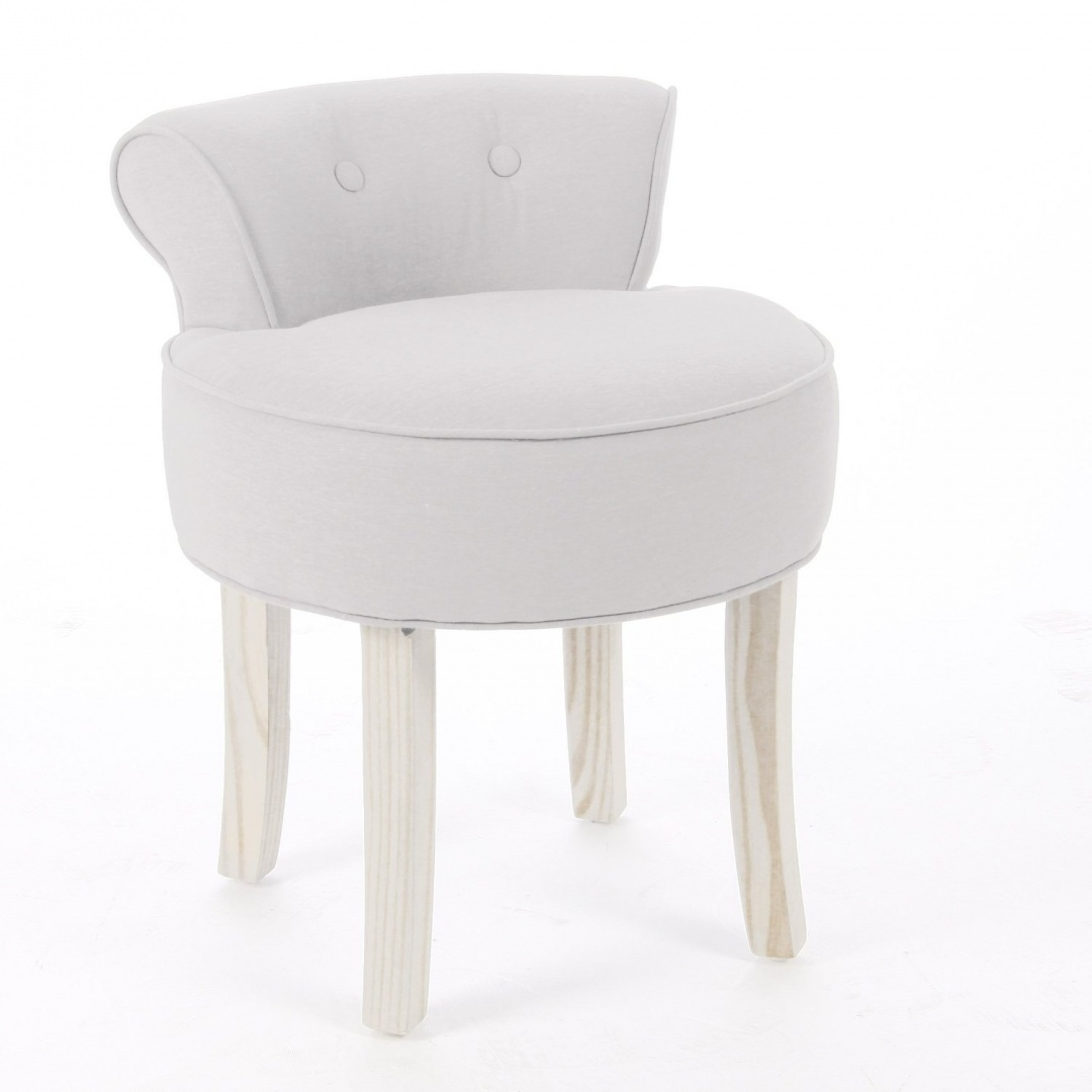 Fine Vanity Stool Linen And Cotton Colour Beige Short Links Chair Design For Home Short Linksinfo