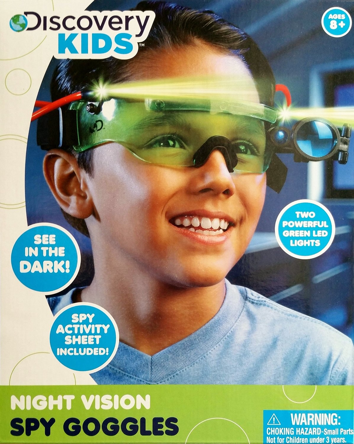 Scope NEW Discovery Kids NIGHT Vision SPY Goggles See n the Dark 2 LED Lights