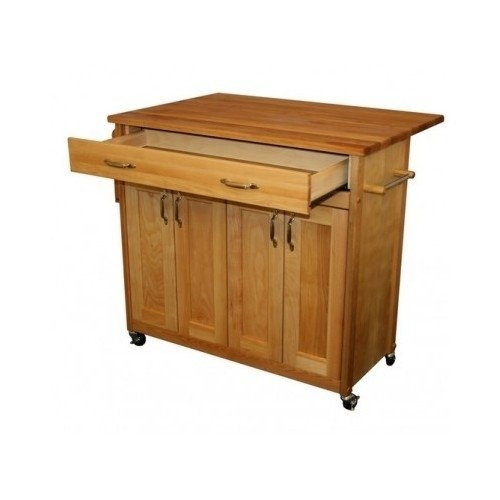 Drop Leaf Movable Butcher Block Top Kitchen Island By Craftsman Shop Online For Homeware In New Zealand