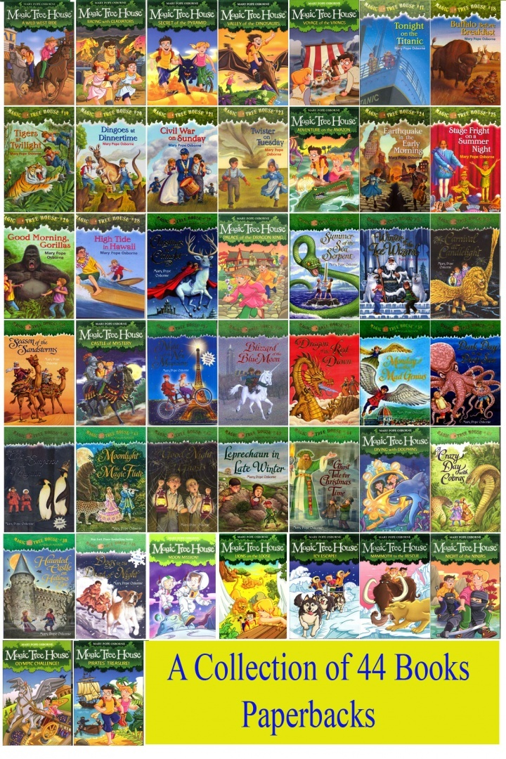 Magic Tree House Books Series A Brand New Collection Of 44 Paperbacks By Mary Pope Osborne