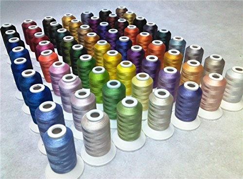 63 Brother Colors Polyester 120d//2 40 Weight Embroidery Machine Thread