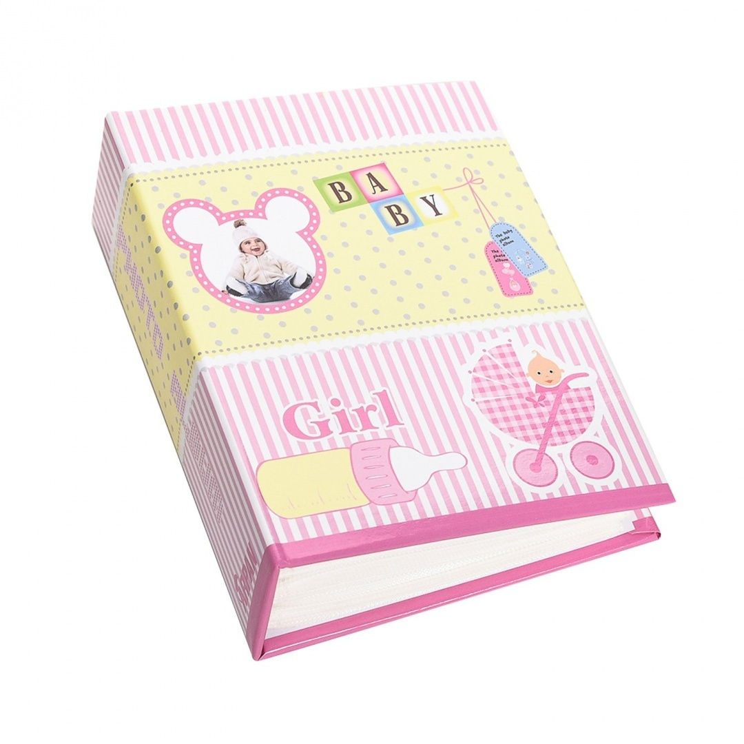 Arpan Small 6x4 Baby Girl Pink Photo Album Slip in Case Storage Album for 100 Photos Ideal Gift