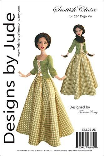 "Opera Doll Clothes Sewing Pattern for 16/"" Deja Vu Dolls Tonner"