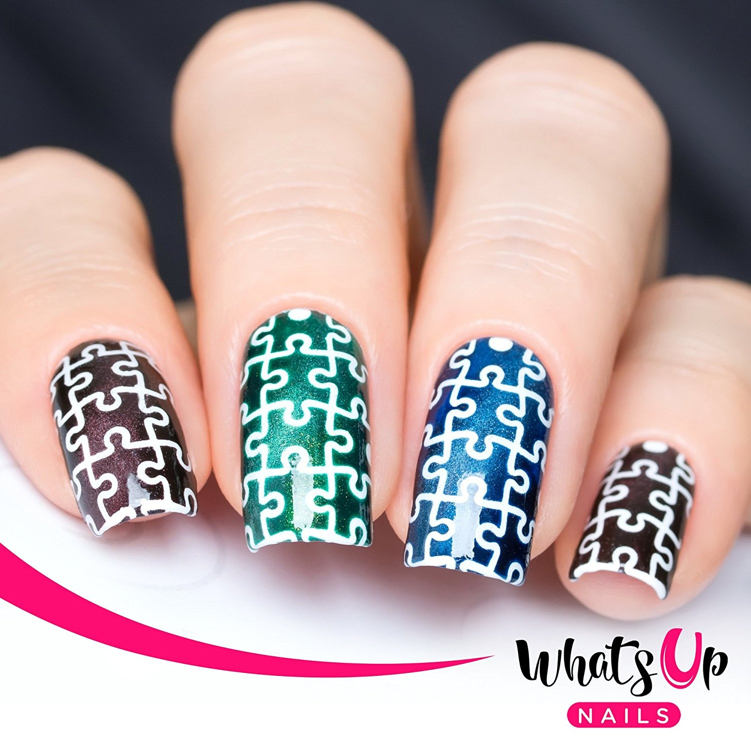 Whats Up Nails   Puzzles Nail Stencils Stickers Vinyls for Nail ...