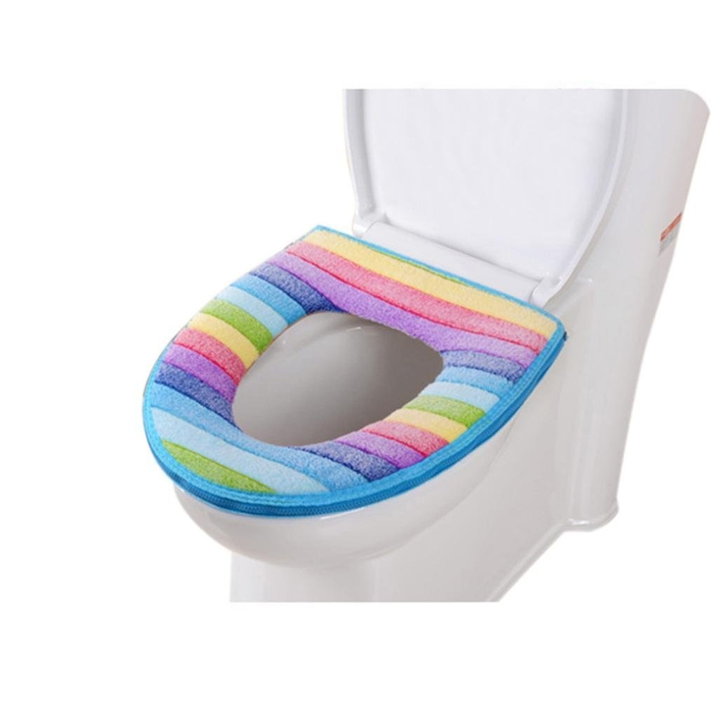 Terrific Gbsell Rainbow Colour Toilet Seat Cover Bathroom Closestool Washable Soft Warmer Mat Cover Pad Cushion Squirreltailoven Fun Painted Chair Ideas Images Squirreltailovenorg