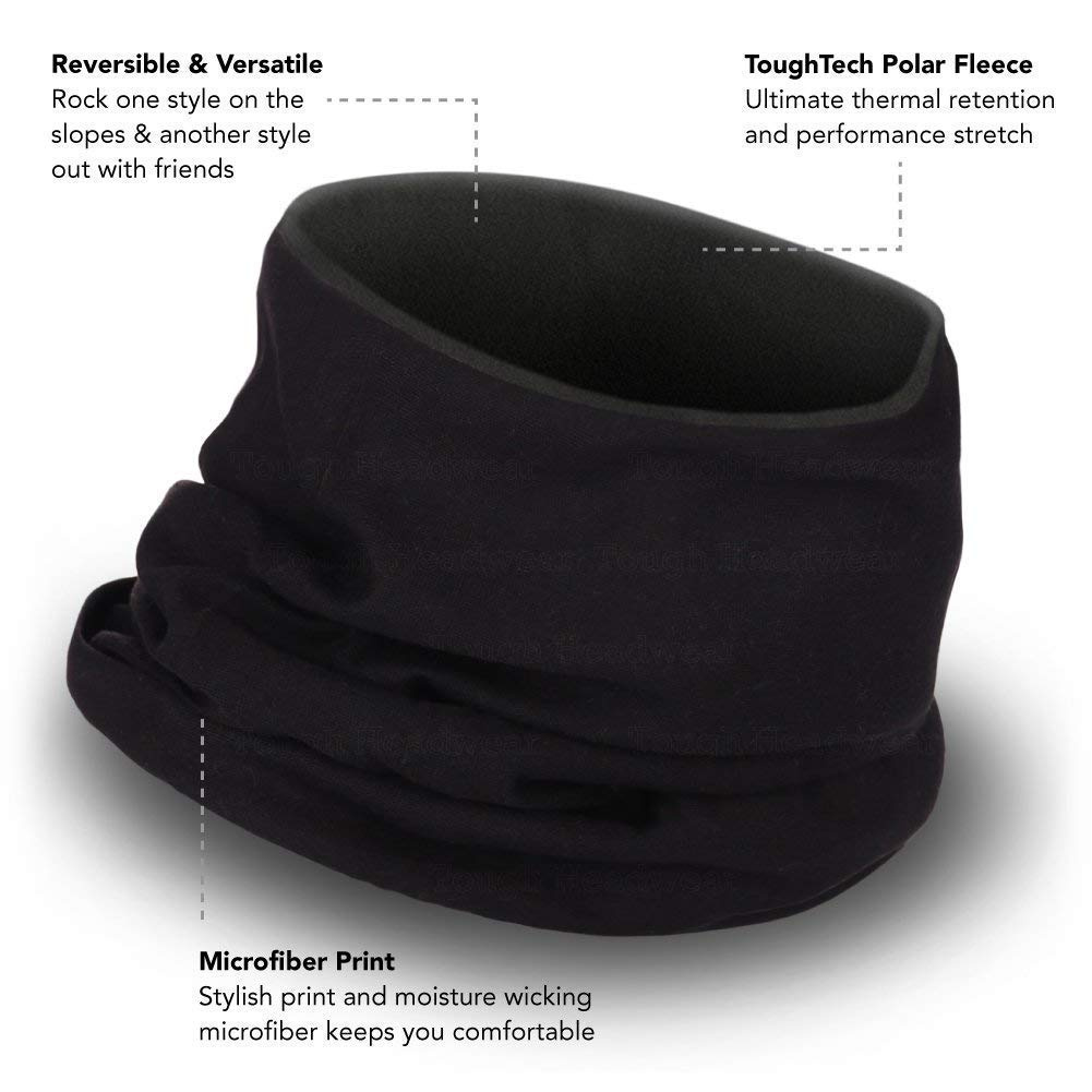 Ultimate Thermal Retention Fleece Neck Warmer Ear Warmer Headband Solids Versatility /& Style - Reversible Neck Gaiter Tube Mask /& Beanie Performance Comfort Fleece /& Microfiber Construction
