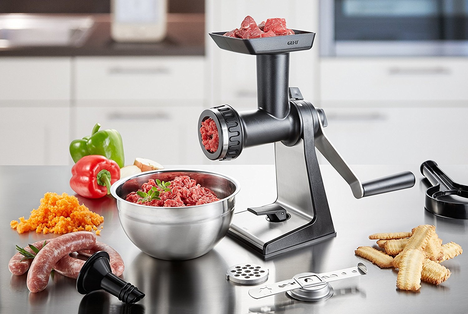 4.5mm GEFU Meat Mincer With Clamp