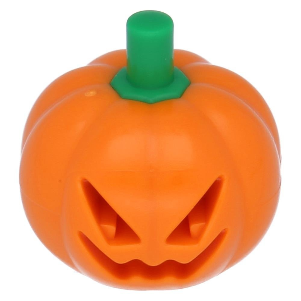 LEGO Parts Halloween Pumpkin with Green Stem Jack O Lantern Headgear Minifigure Accessory x1 Loose