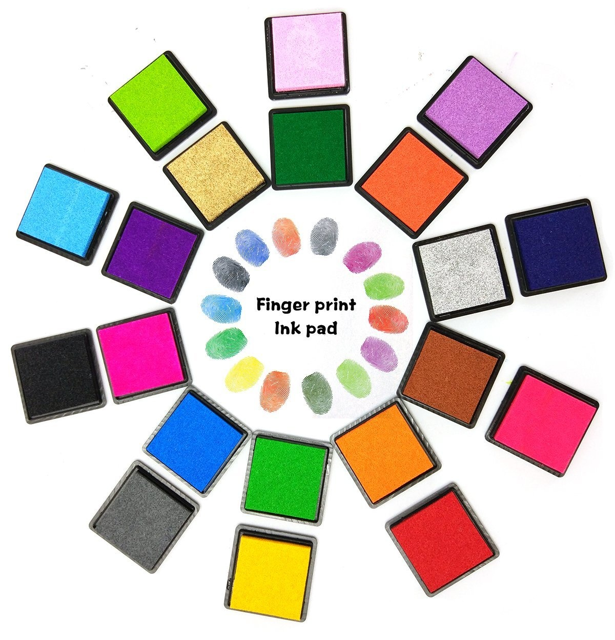 Finger Ink Pads for Kids CUTICATE 6 Colors Ink Stamp Pads Finger Drawing Paining Toy Washable Craft Stamp Pad