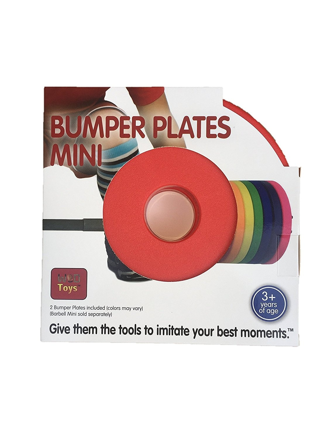 Add On Bumper Plates for The Barbell Mini WOD Toys Colored Bumper Plates Mini Safe Durable Fitness Toys for Kids