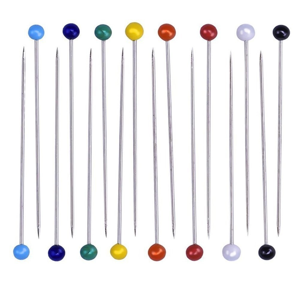White Wetco 800 Pcs 3.5 cm Round Pearl Head Pins Dressmaking Pins Corsage Florists Weddings Sewing Pin