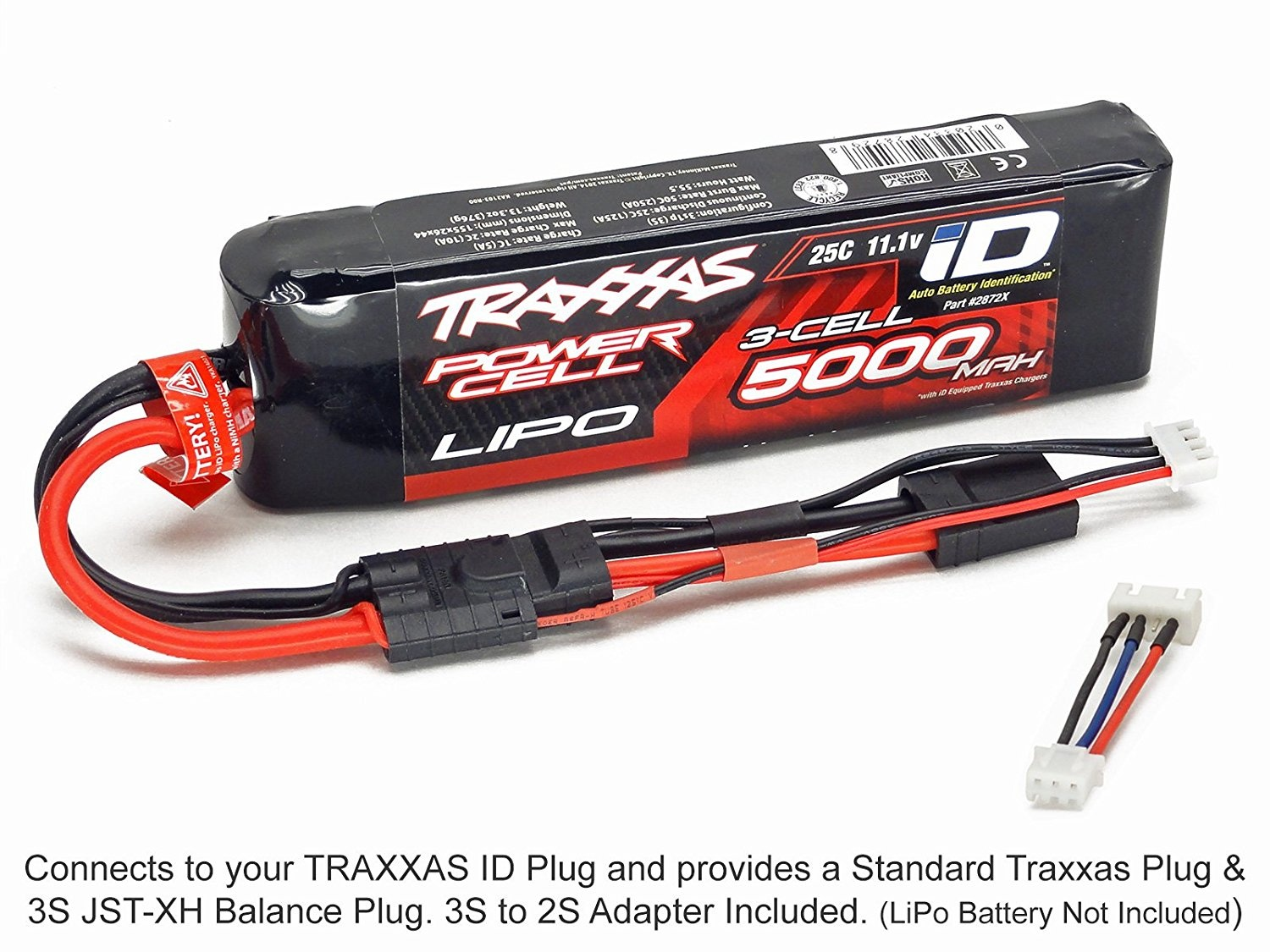 Receiver Pack Plug Heli Drone Mini Quadcopter GT Power Traxxas ID Charger Adapter: Traxxas Female to JST Wires Cables Leads Adapter