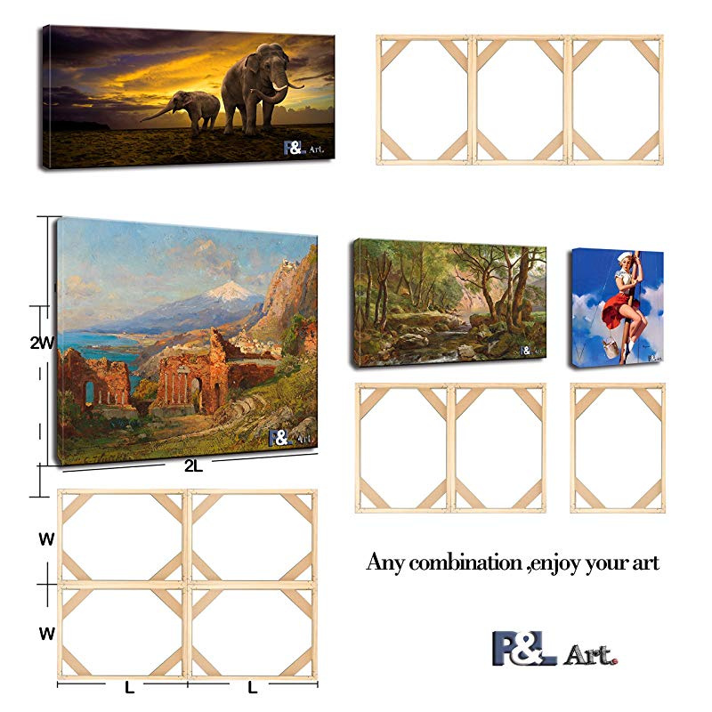 Solid Wooden Profession Canvas Frame Kit for Oil Painting,Wall Art Any Sizes Available Customized Size