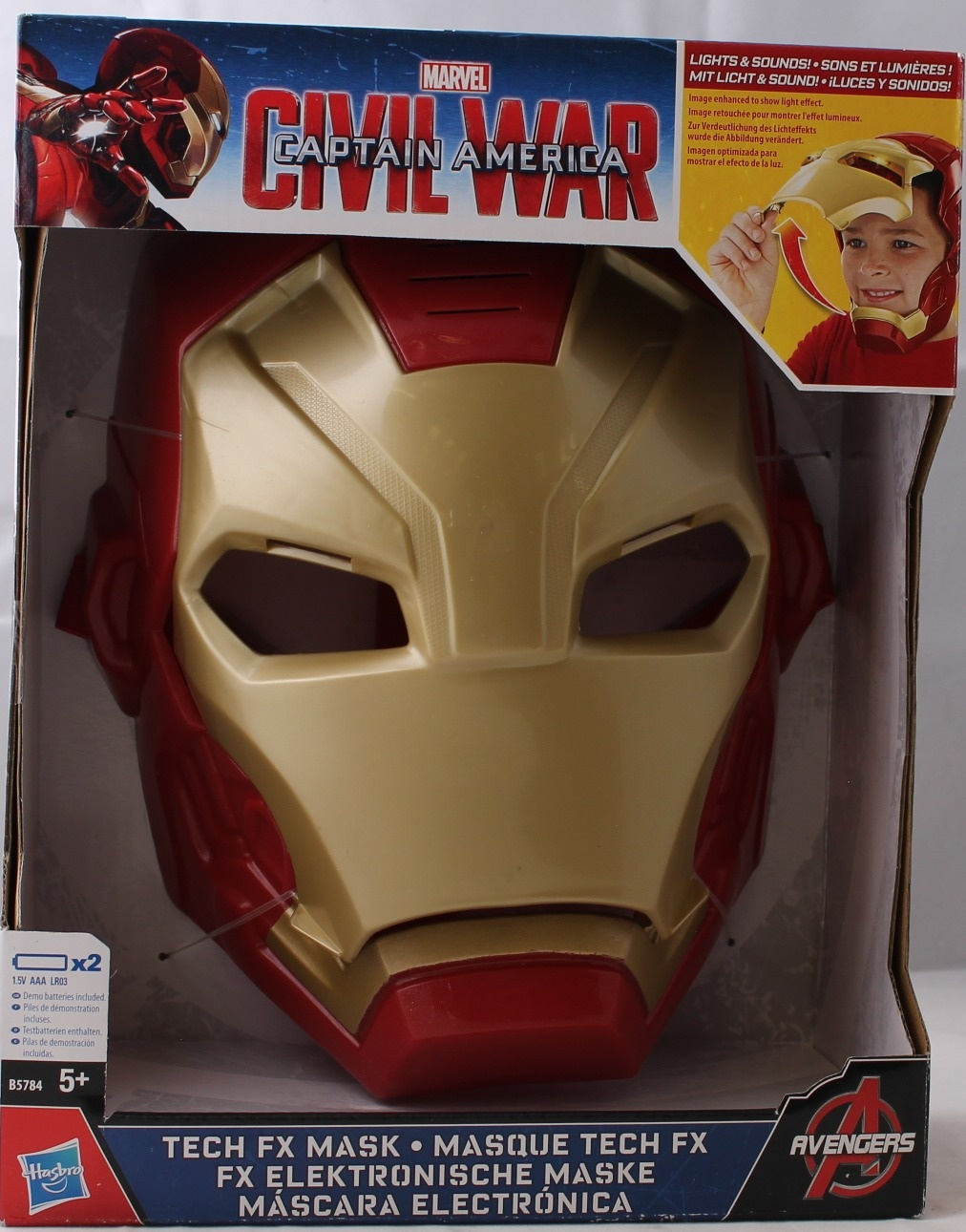 Iron Man Tech Fx Mask Captain America Civil War Avengers Light & Sound Mask