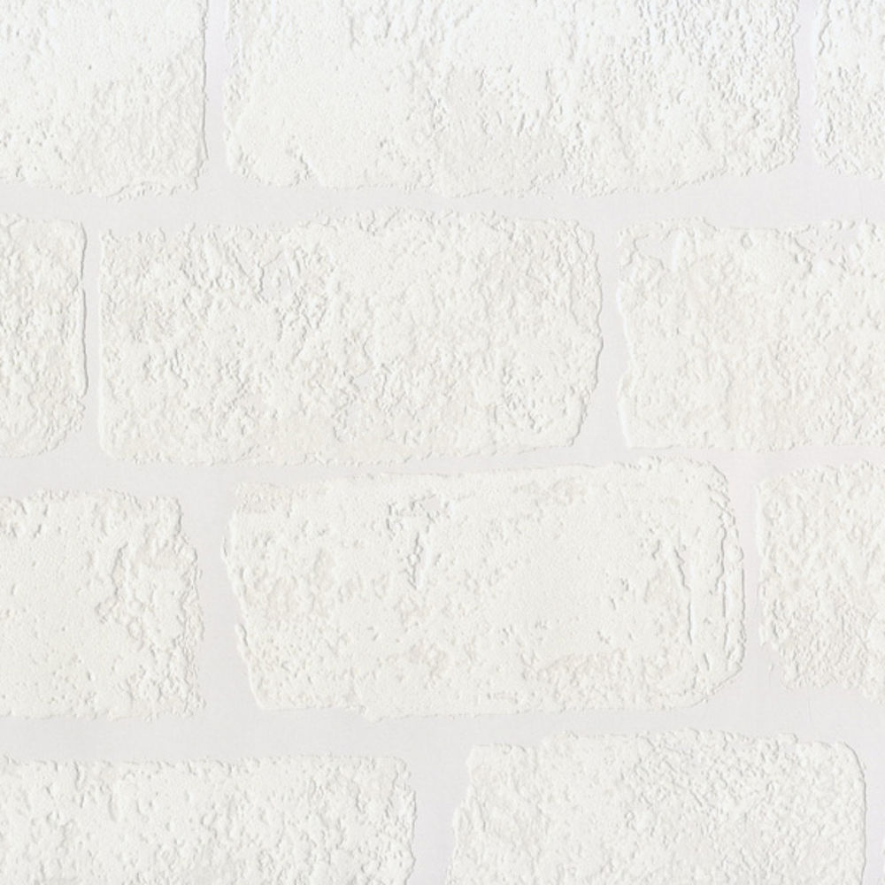 Anaglypta Lincolnshire White Brick Pattern Textured Paintable Wallpaper Rd812