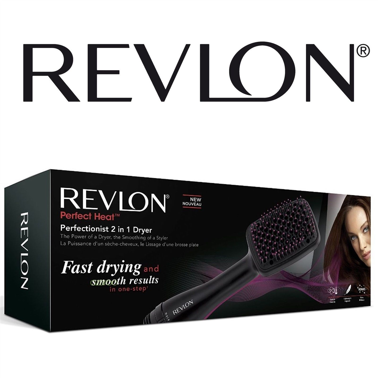 Womens Revlon Perfectionist 2 In 1 Ionising Paddle Brush Hair Dryer Rvha6475uk By Revlon Shop Online For Beauty In New Zealand