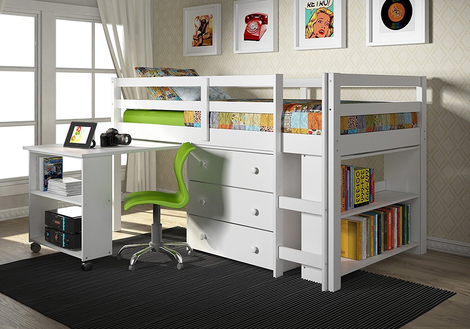 Picture of: Donco Kids 760 Cp Low Study Loft Bed Dark Cappuccino By Donco Kids Shop Online For Homeware In New Zealand