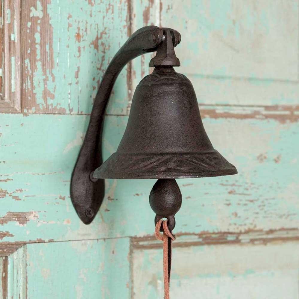 Antique Doorbell Decoration Black Cast Iron Bell Welcome Entry Door Bell