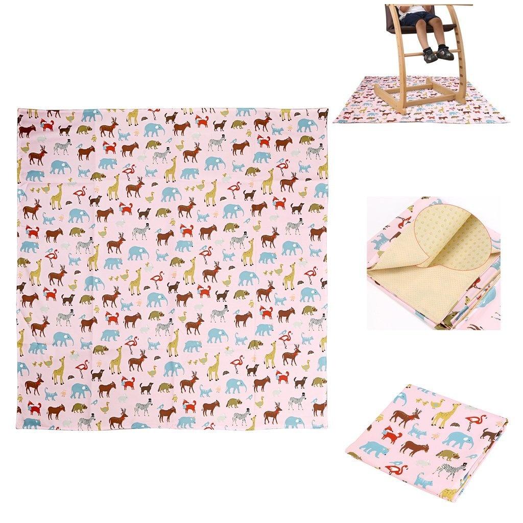 IGNPION Highchair Splash Mat No Mess Anti Slip Feeding Splat Mat Baby Floor Mat