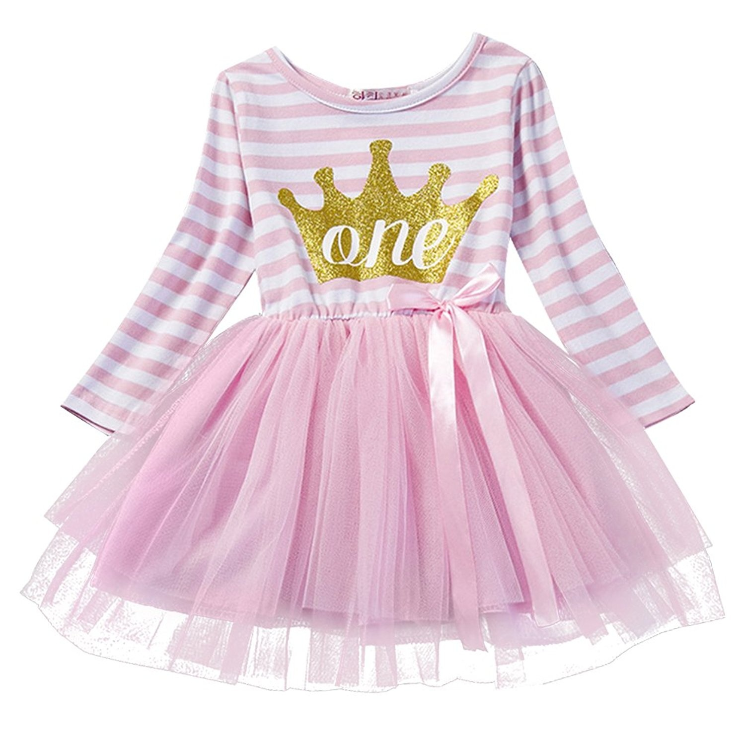 Baby Toddler Girl 1st 2nd 3rd Birthday Party Princess Pageant Casual Tulle Dress