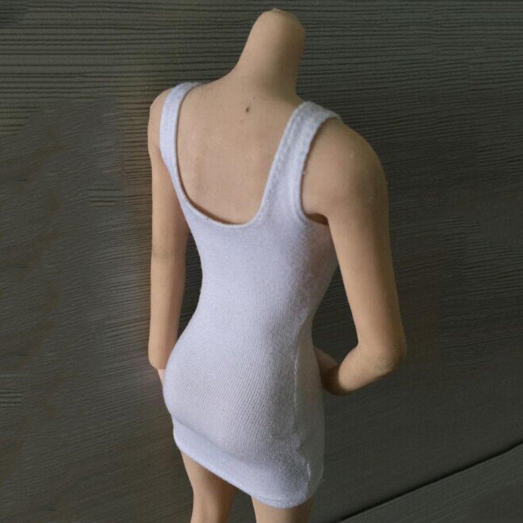 Hot Toys Kumik Body White 1//6 Female Package Hip Vest Skirt Dress for 12in