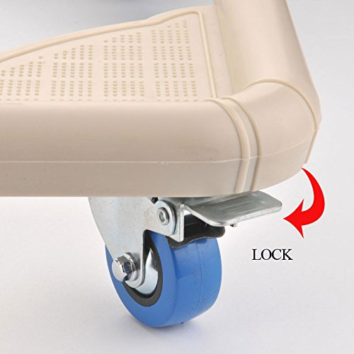 SPACECARE 4 Rubber Locking Swivel Wheels Telescopic Furniture Dolly Roller with Size Adjustable-STFD001