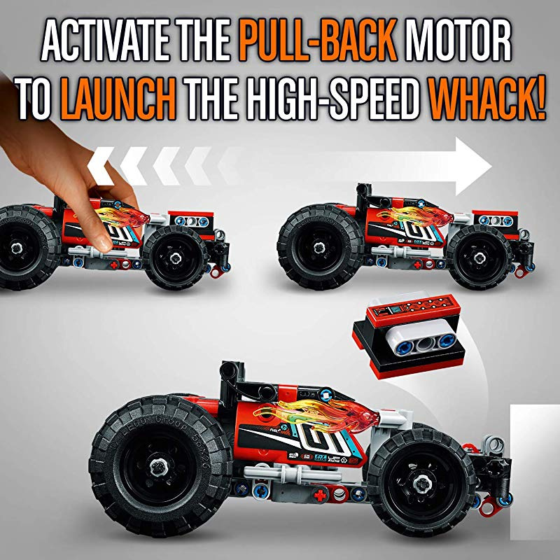 Technic Racing Car Toy Powerful Pull-Back Motor High-Speed Vehicles Building Set
