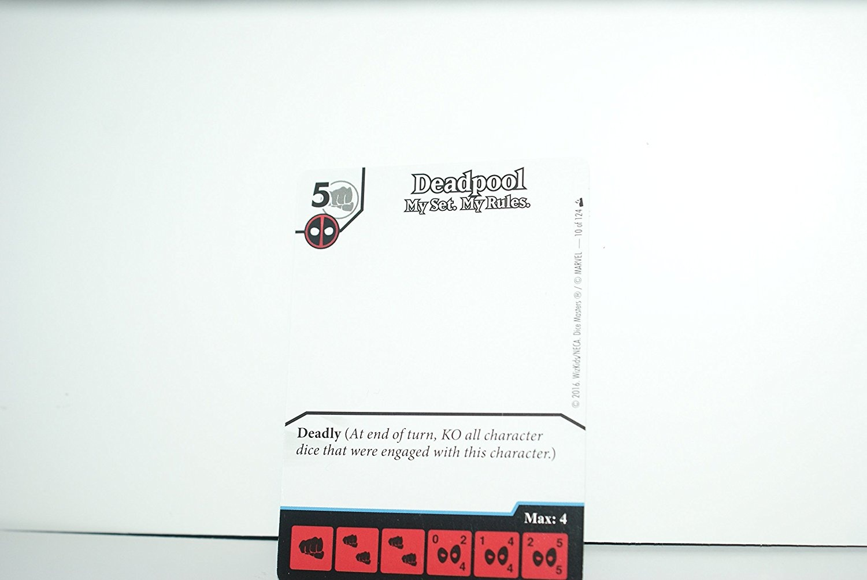 Promo Card My Set Deadpool Gravity Feed Display Marvel Dice Masters My Rule