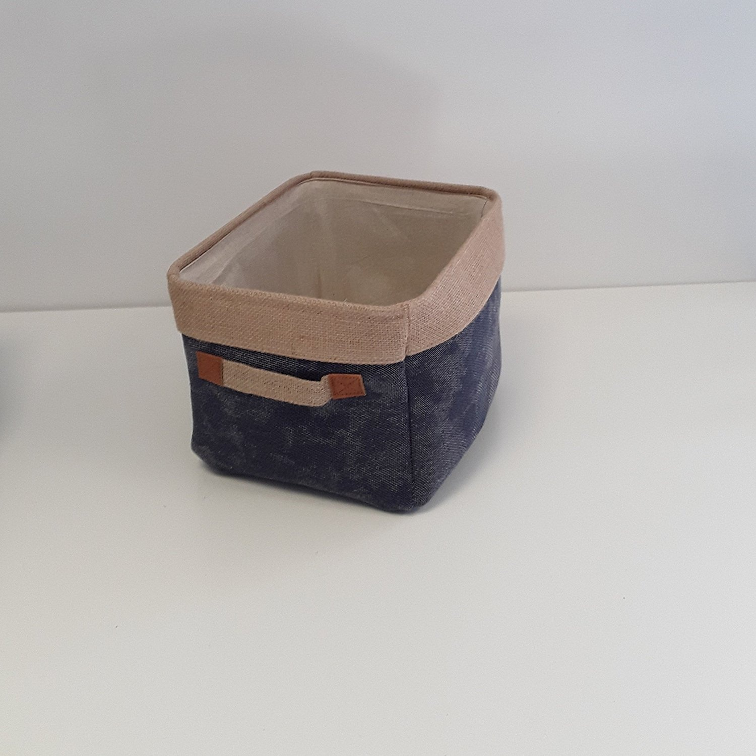 Strange Denim Blue Fabric Laundry And Storage Bags Lined Soft Storage Medium Storage Bag L30 X W24 X H20 Cm Ocoug Best Dining Table And Chair Ideas Images Ocougorg