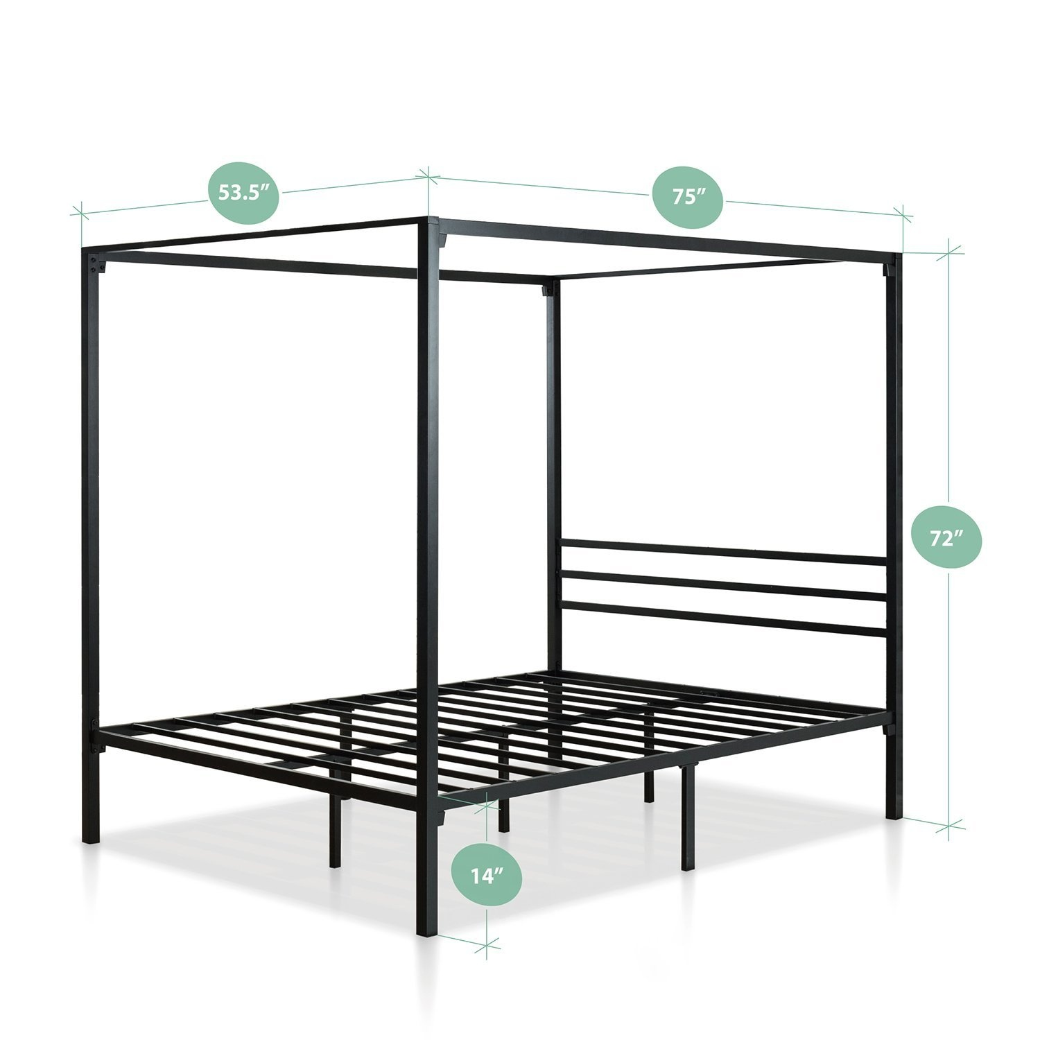 Zinus Metal Framed Canopy Four Poster Platform Bed Frame Strong Steel Mattress Support No Box Spring Needed Queen By Zinus Shop Online For Homeware In New Zealand