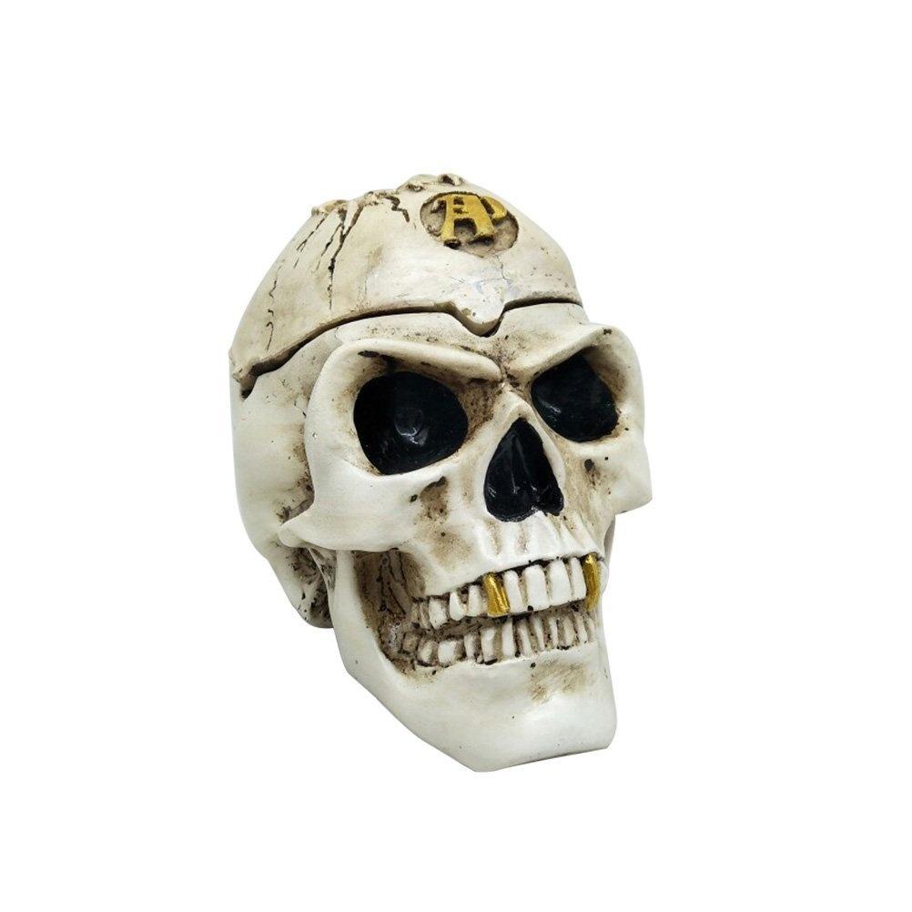BESTOYARD Resin Skull Realistic Human Skull Halloween Skeleton Skulls Decorations